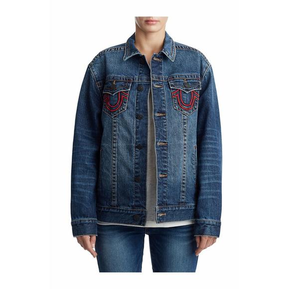 True Religion Jackets & Coats | Womens Denim Trucker ...